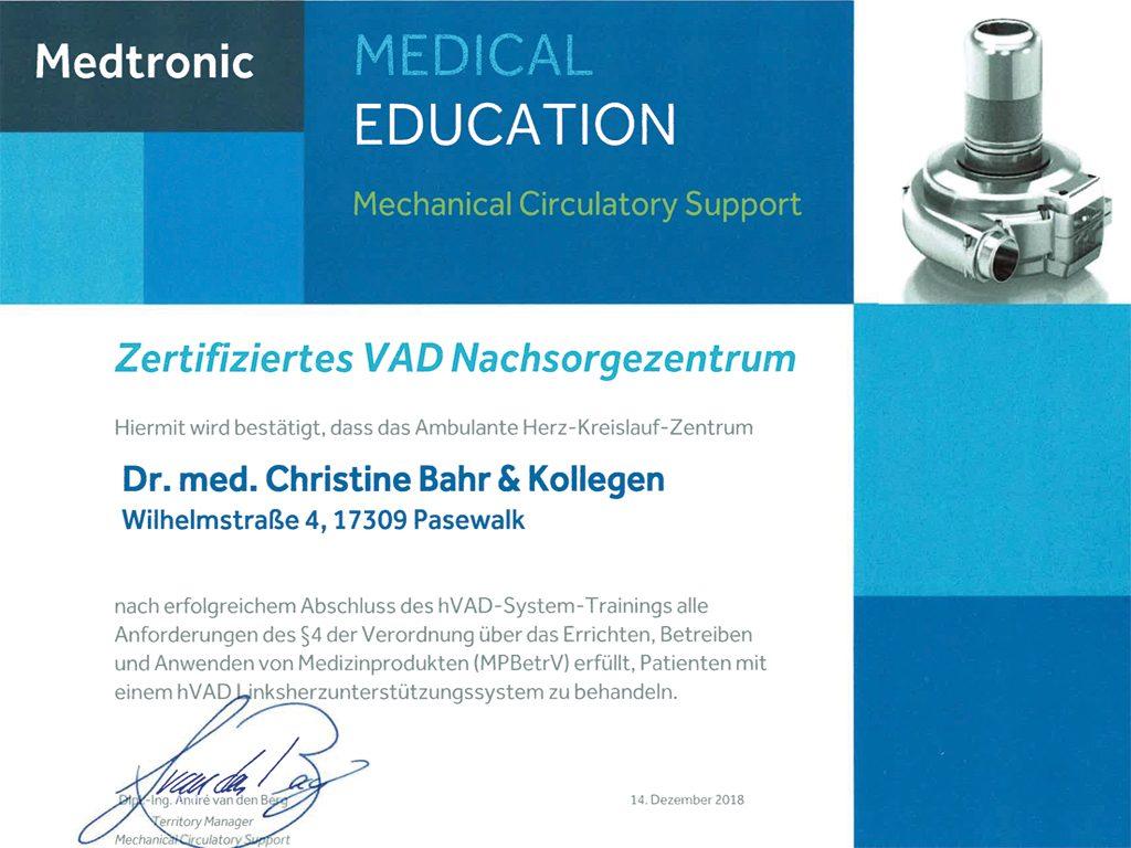 VAD-Zertifikat