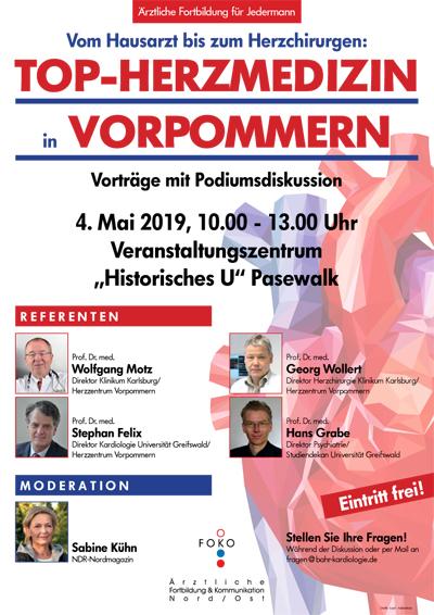 Plakat Top-Herzmedizin in Vorpommern
