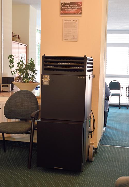 Trotec Luftreinigungssystem im Wartezimmer